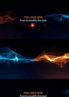 PPT超酷光效演绎片头文字logo视频模板