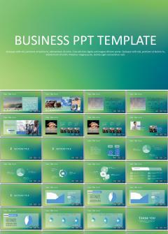 绿色商务企业数据报告PPT模板