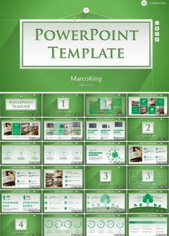 绿色商务环保通用PPT模板