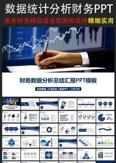 财务数据报告动态PPT模板