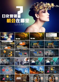 化妆品产品宣传创意PPT模板