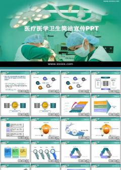 医院医学卫生简洁宣传PPT模板