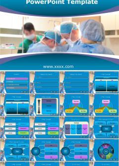 医院图表宣传PPT模板