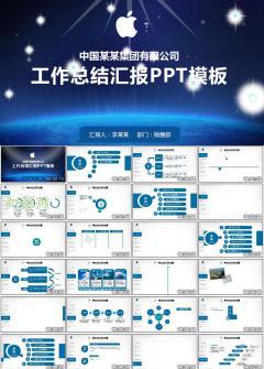 集团公司高端工作总结汇报PPT模板