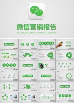 商务企业微信营销活动报告PPT模板