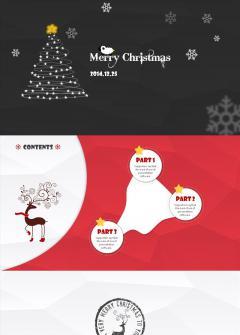 红黑色温馨圣诞节PPT模板