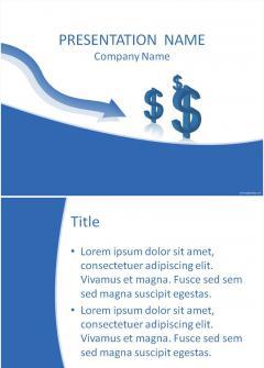 蓝色美元设计背景素材PPT模板