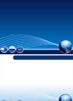 蓝色设计背景PPT模板