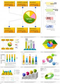 欧美图表类设计素材PPT模板