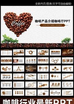 创意简洁咖啡产品宣传PPT模板