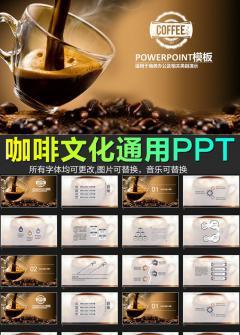 咖啡产品介绍下午茶咖啡厅PPT模板