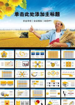 农业丰收会议报告PPT模板