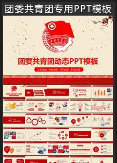 共青团团委工作总结计划汇报动态PPT模板
