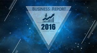 2016ios风格蓝色天空PPT模板极致简约商务风格