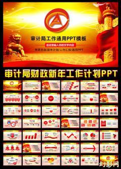 审计局财政财经会计报告工作计划PPT模板