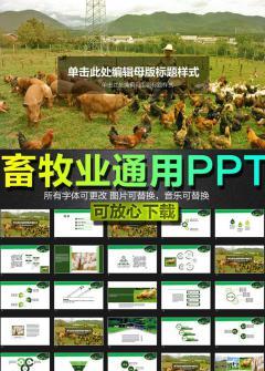 2016畜牧业养殖PPT模板