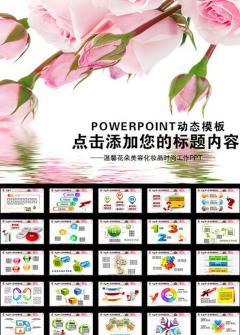 温馨花朵美容产品宣传PPT模板