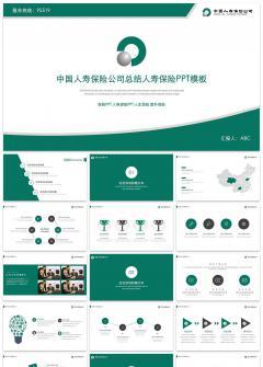 中国人寿保险公司总结人寿保险PPT模板