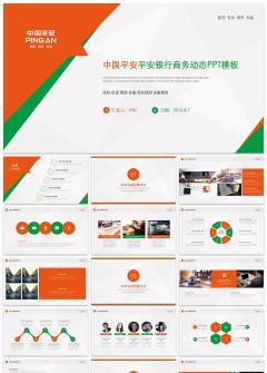 中国平安平安银行商务动态PPT模板