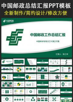 邮政储蓄贷款理财业绩报告PPT模板