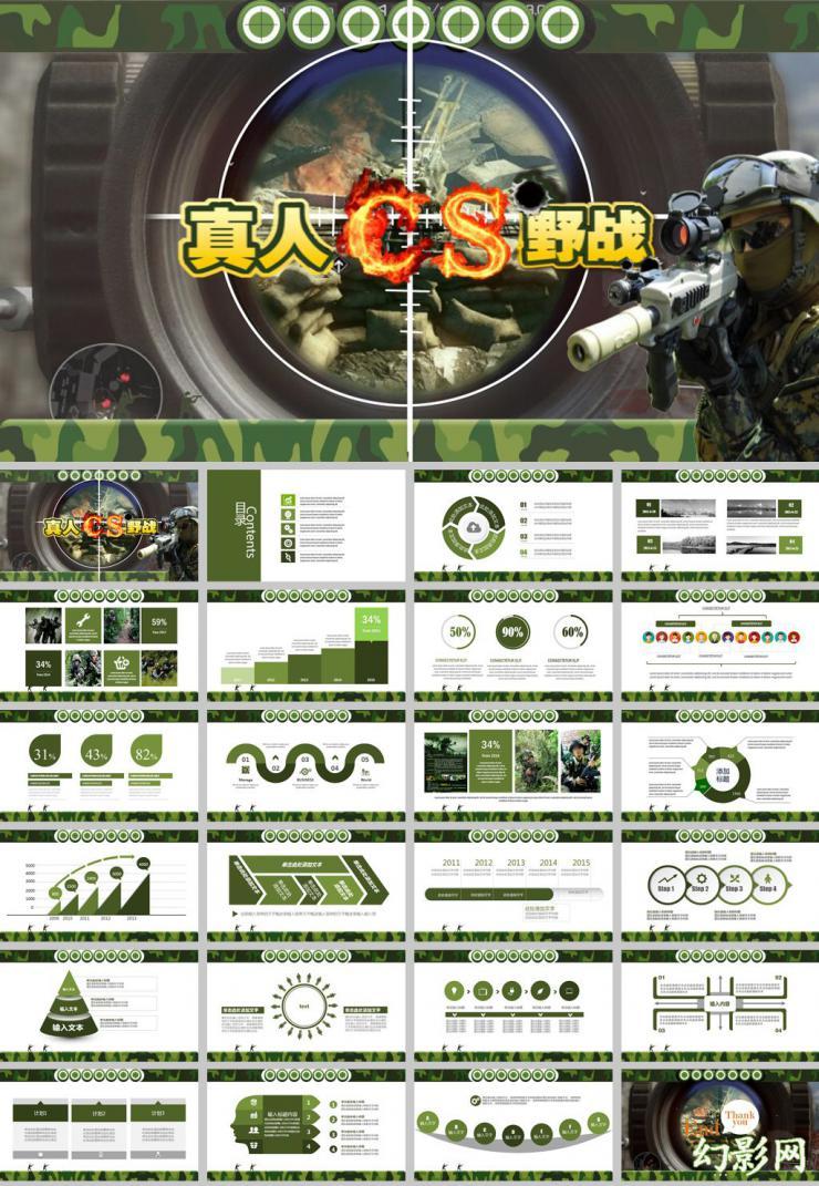 娱乐游戏真人CF野战报告ppt模板