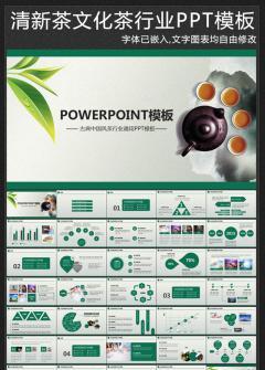 茶文化茶叶产品介绍茶行业PPT模板
