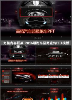 超级跑车汽车销售汽车租赁PPT模板