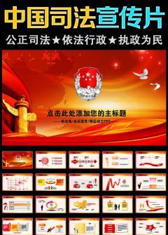 中国司法纪检监察司法局法律大气PPT模板