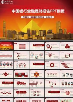 中国银行年终总结投资理财PPT模板