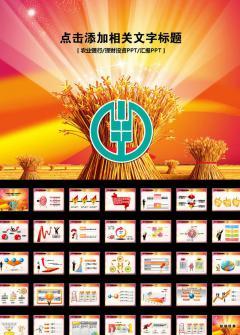 大气高端农业银行金融理财PPT模板