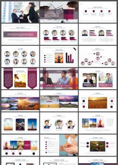 紫色简约商务工作汇报总结PPT模板