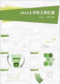 绿色工作汇报动态PPT模板
