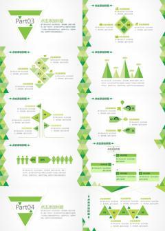 绿色精致工作汇报PPT模板