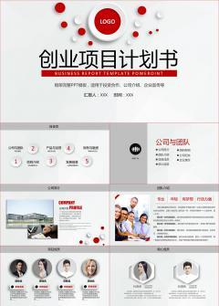 红色大气商业创业计划书项目策划PPT模板