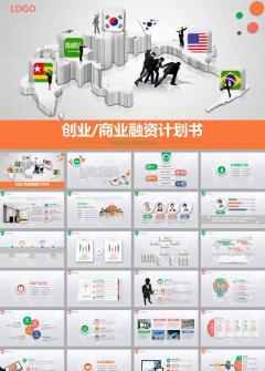 跨国企业创业融资计划书ppt模板
