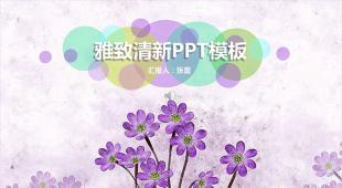 淡雅清新教育教学商务通用PPT模板