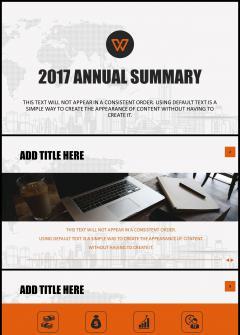简洁欧美商务风年终总结工作汇报 企业宣传介绍 演讲发布
