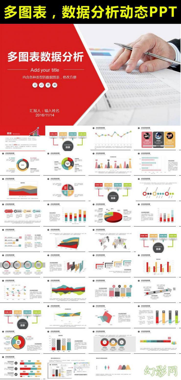 财务报表数据统计分析PPT理财业绩汇报