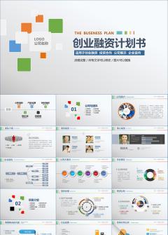 扁平化多彩商业创业融资计划书