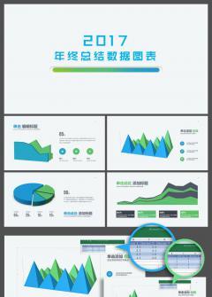 【柚子】2017年终总结计划数据图表150页(蓝绿)