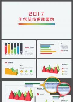 【柚子】2017年终总结计划数据图表150页(缤纷彩虹)