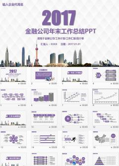 2017年度财务数据分析报告PPT模板