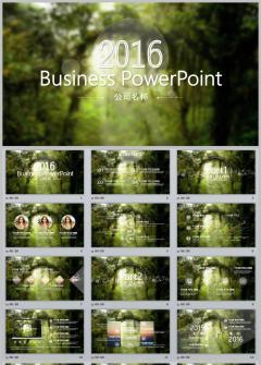 绿色森林商务通用 总结计划 年中计划 2017