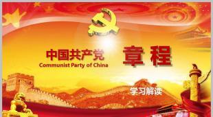 共产党章程 党政 党章 学习 两学一做 四讲四有