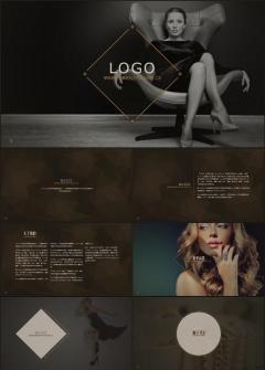 欧美时尚奢华商务PPT模板品牌宣讲企业介绍