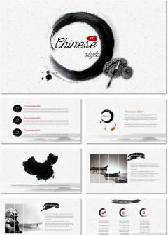 最美水墨中国风PPT模板丨总结计划商业汇报商务融资创业
