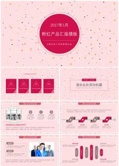 粉红产品汇报模板