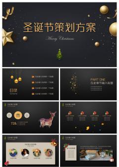 精美时尚圣诞节策划方案PPT模板