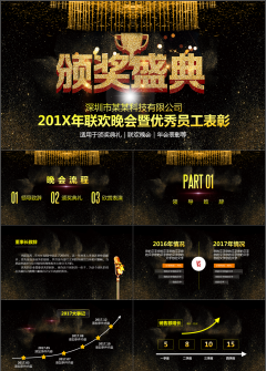 【震撼大气】年会庆典员工表彰颁奖典礼PPT