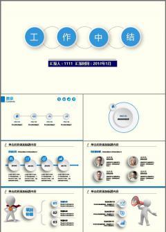 微立体 框架完整 总结计划 会议报告 汇报述职模板